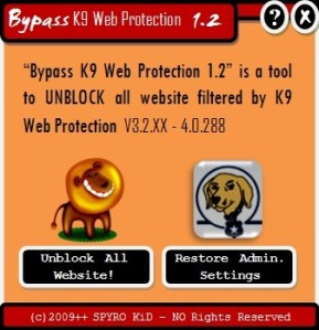 bypass k9 web protection v1.2